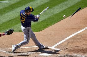 Brewers Maile bat AP