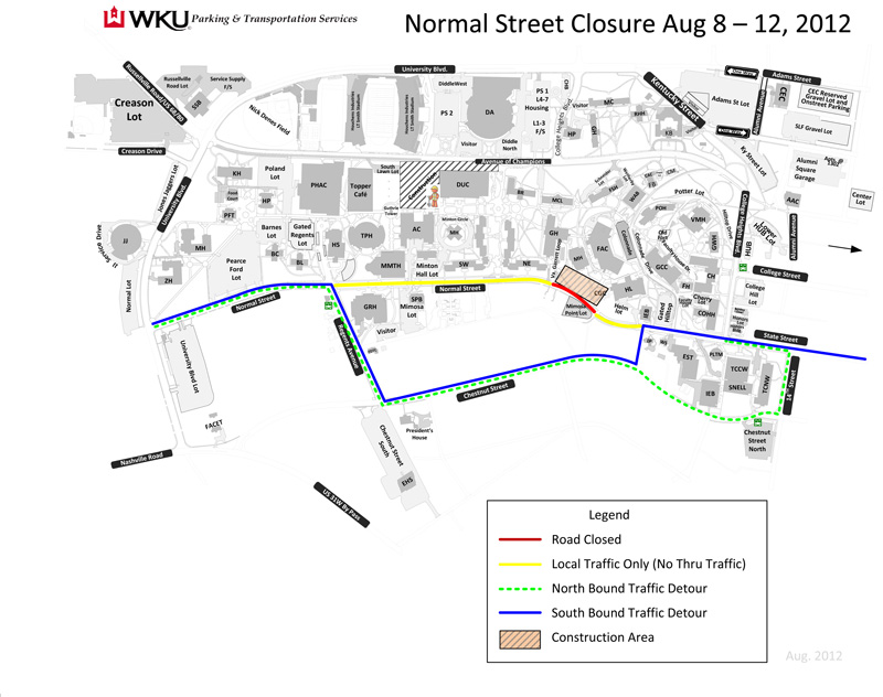 Normal Street to close during library roof repairs