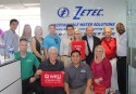 As part of a two-week trip on corporate leadership, a WKU delegation visited ZETEC.