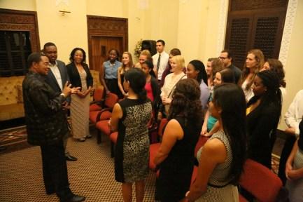 Tanzania President Jakaya Kikwete met with participants in the Kentucky Institute for International Studies Tanzania Program on June 22.