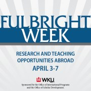Fulbright Week events will be held April 3-7.