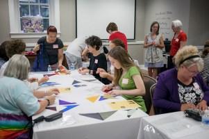 Visiting artist Wonju Seo conducted a Korean Bojagi Workshop Aug. 26 at the Kentucky Museum.