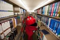 Big Red around campus
