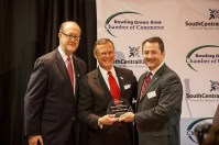 WKU President Gary A. Ransdell received the Herb Smith Lifetime Achievement Award at the Bowling Green Area Chamber of Commerce annual dinner.
