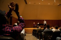 WKU graduate Bronson Murphy presented a master class on May 5.