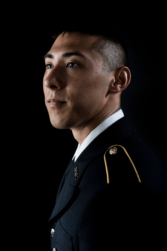 """Joe Gray is in his third year of ROTC at Western Kentucky University. """"I'm not really sure what I want to do. Maybe aviation or infantry,"""" said Joe when asked what he wants to do during his time in the Army."""