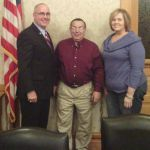 Pulaski County Commissioners Larry Brady, Terry Young, and Tracey Shorter