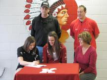 IUSB head coach Jamie Ashmore-Pott makes the signing official.