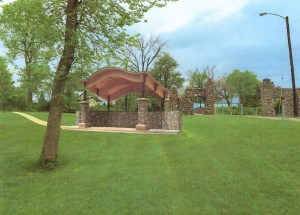 Wythogan Park Performance Stage rendering