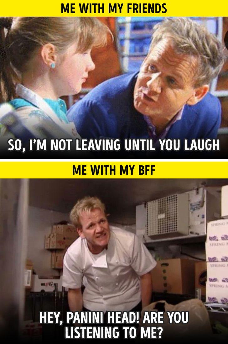 3 Best Friends Meme : friends, Jokes, Friends, Understand