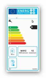 Stara etykieta energetyczna dla konwencjonalnych podgrzewaczy wody