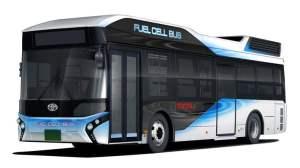 Autobus Toyoty z napędem wodorowym i funkcją mobilnego generatora