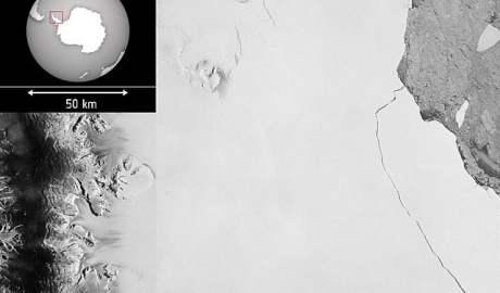 Ogromna góra lodowa oderwała się od Lodowca Szelfowego Larsen C - wlaczoszczedzanie.pl - Wikipedia/ @ESA / CC BY SA 2.0