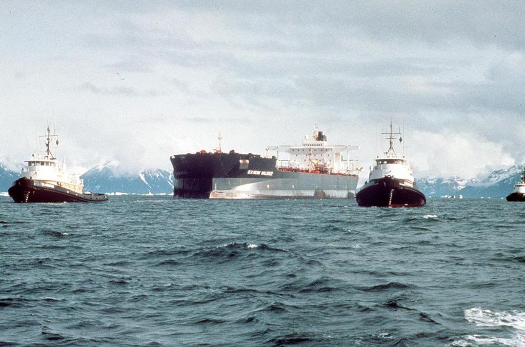 Holowanie uszkodzonego tankowca Exxon Valdez