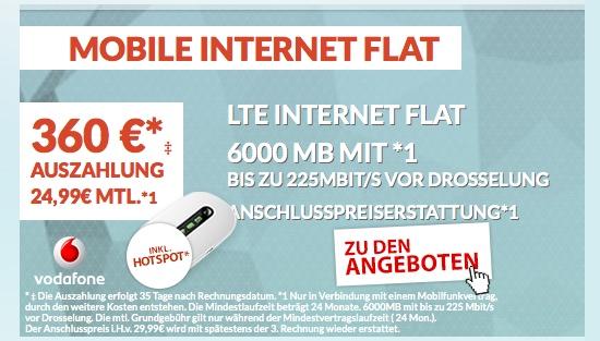 günstiger LTE Datentarif im Vodafone Netz