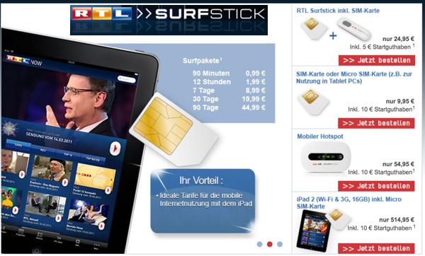 mobil Surfen ohne Vertragsbindung im Vodafone Netz