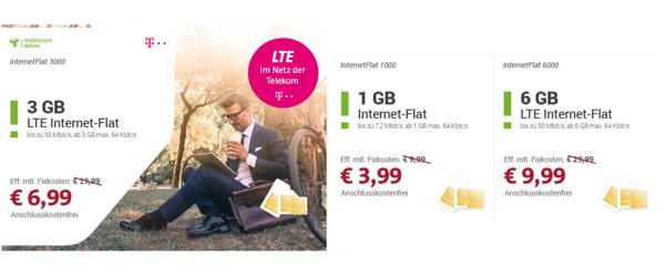 günstiger Telekom LTE Datentarif Internet Flat unter 4 Euro