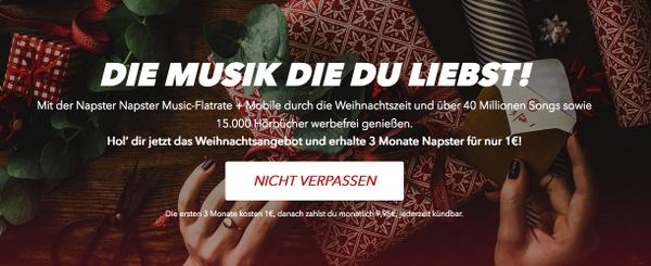 Napster Musik 3 Monate günstig testen