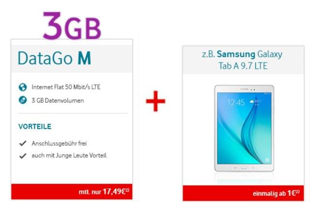 Vodafone Surfflat mit 3GB und Samsung Tablet