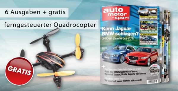 6 ausgaben auto motor und sport g nstiger plus quadrocopter. Black Bedroom Furniture Sets. Home Design Ideas