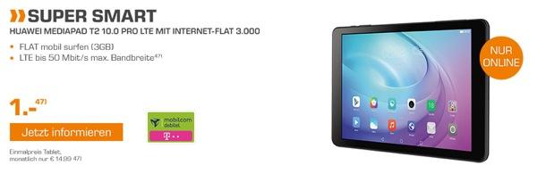 HUAWEI Mediapad T2 10.0 Pro mit Telekom Datentarif