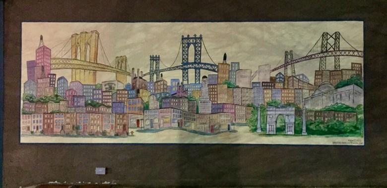 Mural of the 3 Bridges BKN 2 Manhattan