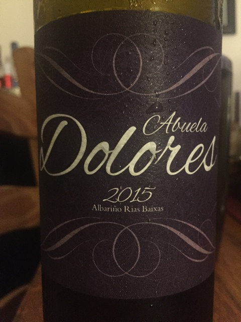 Label from bottle of Abuela Dolores Rias Baixas Albariño 2015