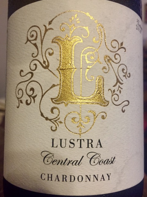 Label from bottle of Lustra Central Coast Chardonnay 2016