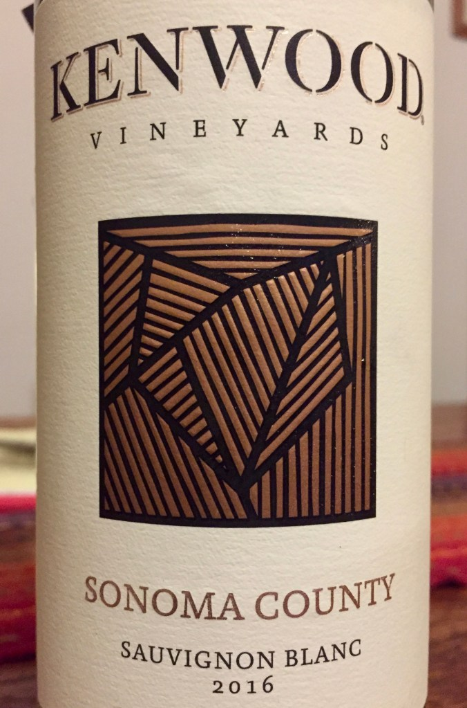Label from bottle of Kenwood Vineyards Sauvignon Blanc Sonoma County 2016