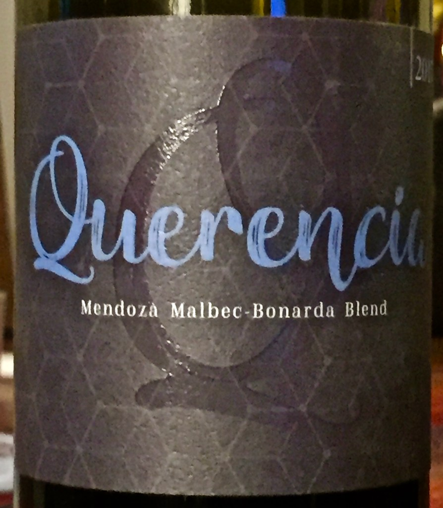 Label from bottle of Querencia Mendoza Malbec-Bonarda blend 2017