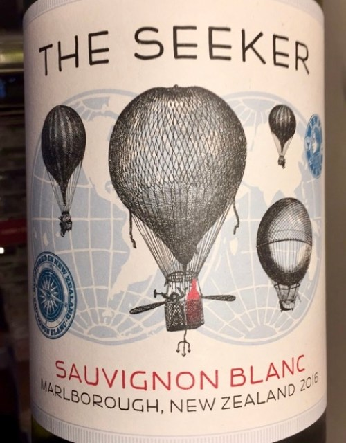 Label from bottle of The Seeker Marlborough Sauvignon Blanc 2016