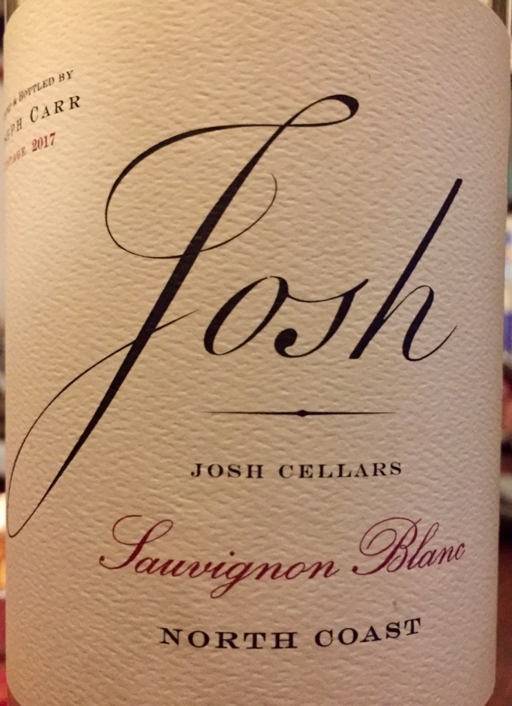 label from bottle of Josh Cellars North Coast Sauvignon Blanc 2017