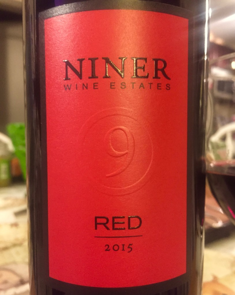 Label from bottle of Niner Wine Estates Red 2015