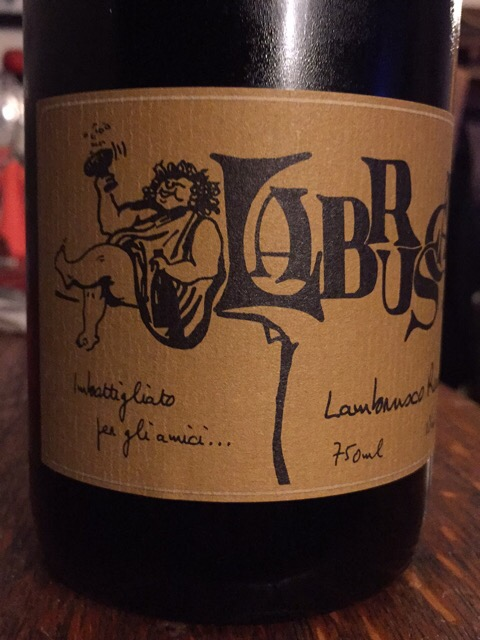 "Label from bottle of Lini ""Labrusca"" Lambrusco"