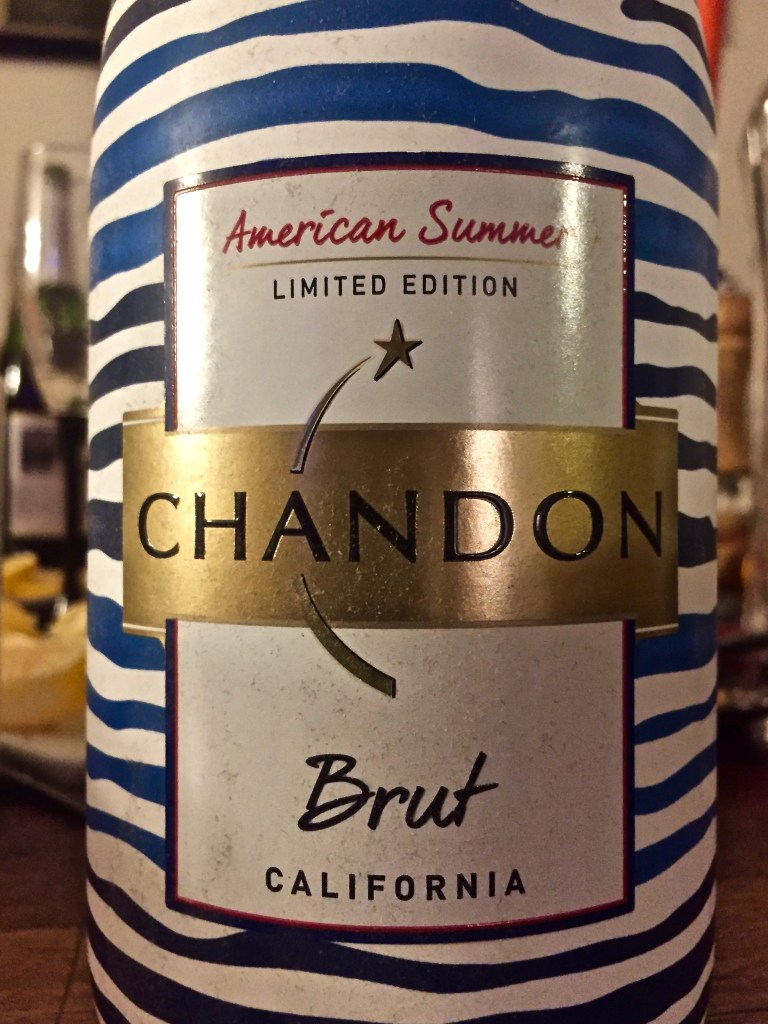Label from bottle of American Summer Limited Edition Chandon California Brut Sparkling NV