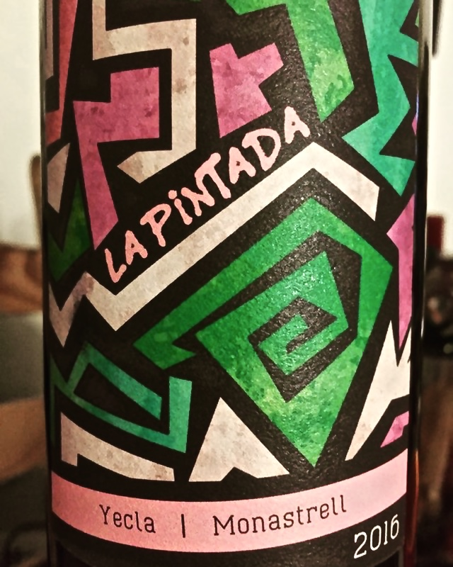 Label from bottle of La Pintada Yecla Monastrell 2016