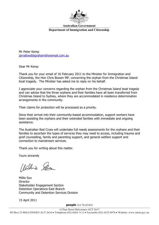 14-14-14 UPDATE Australian minister for immigration and