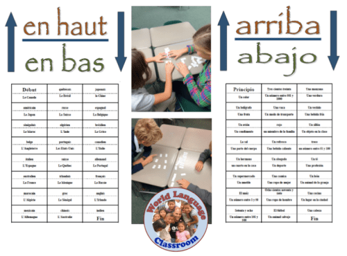 Up and Down: Foreign (World) Language Vocabulary and Verb Form Activity (French, Spanish) wlteacher.wordpress.com