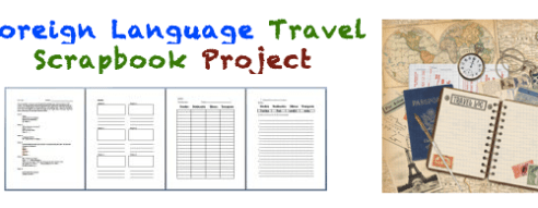 Foreign (World) Language Travel Scrapbook Project (French, Spanish) wlteacher.wordpress.com