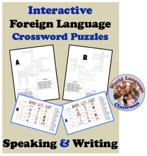 Interactive Foreign (World) Language Crossword Puzzles (French, Spanish) wlteacher.wordpress.com