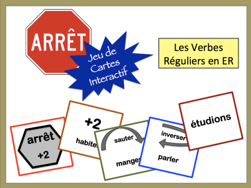 Foreign (World) Language Verb Form Card Game. (French, Spanish) wlteacher.wordpress.com
