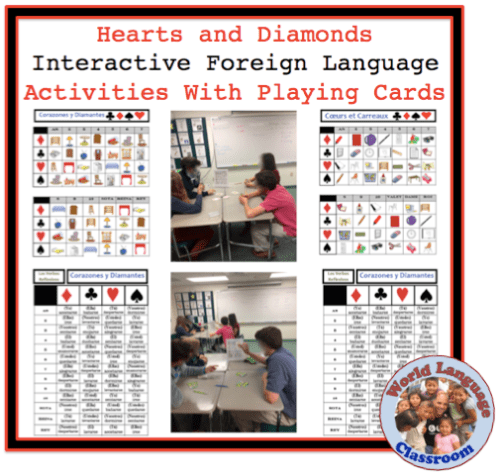 Foreign (Wolrd) Language Speaking Activity with Playing Cards (French, Spanish) wlteacher.wordpress.com