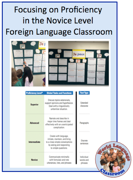 Focusing on Proficiency in the Novice Level Language Classroom (French, Spanish) wlteacher.wordpress.com