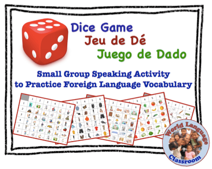 Small Group Speaking Activity to Practice Foreign (World) Language Vocabulary (French, Spanish) wlteacher.worpress.com