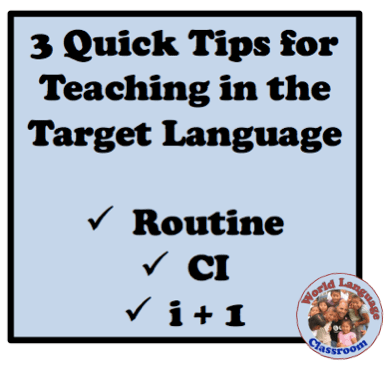 Tips for Teaching in the Target Language (French, Spanish) wlteacher.wordpress.com