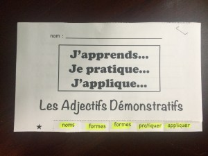 French Tab Books to Learn, Practice and Apply Grammar and Vocabulary ww.wlteacher.wordpress.com