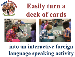 Foreign Language Cuumincative Speaking Activity with Playing Cards (French, Spanish) www.wlclassroom.com