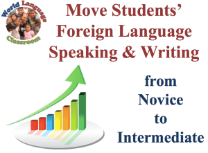 Move Students' Foreign Language Skills from Novice to Intermediate (SlideShare) (French, Spanish) www.wlclassroom.com
