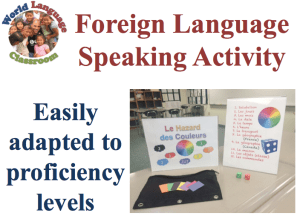 screen-Foreign Language Speaking Activity Based on Proficiency Levels (SlideShare) (French, Spanish) www.wlclassroom.com