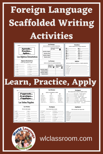 French & Spanish Learn, Practice Apply Activities